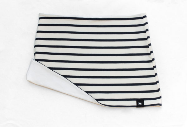 Haramaki reversible en rayas azul marino y blanco